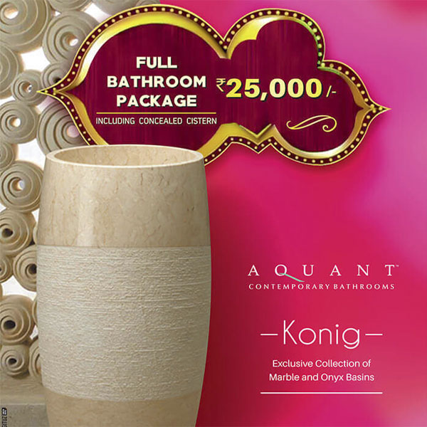 Aquant full bathroom package including concealed cistern at 25000