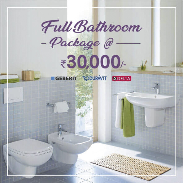 Full bathroom package at Rs.30000